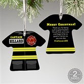 2-Sided Firefighter Uniform Personalized Ornament - 12374-2