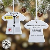 2-Sided Medical Uniform Personalized Ornament - 12377-2