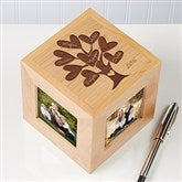 Leaves Of Love Personalized Photo Cube - 12380