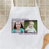 Picture Perfect Personalized Apron - Two Photo - 12384-2A