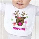 Christmas Reindeer Personalized Bib - 12385-B