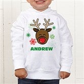 Christmas Reindeer Personalized Toddler Hooded Sweatshirt - 12385-CTHS