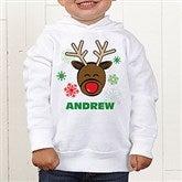 Christmas Reindeer Personalized Toddler Hooded Sweatshirt - 12385-CTHS