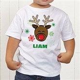 Christmas Reindeer Personalized Toddler T-Shirt - 12385-TT