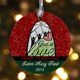 God Is Love Personalized Ornament - 12389