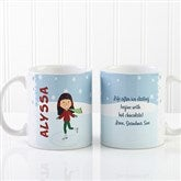 Ice Skating Character Personalized Coffee Mug 11oz.- White - 12392-W