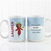 Ice Skating Character Personalized Coffee Mug 15oz. - White - 12392-L