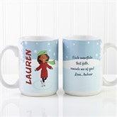 Ice Skating Character Personalized Coffee Mug 15oz. - White - 12392-L
