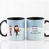 Ice Skating Character Personalized Coffee Mug 11oz.- Black - 12392-B
