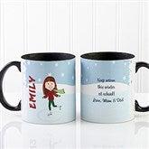 Ice Skating Character Personalized Coffee Mug 11oz.- Black - 12392-B