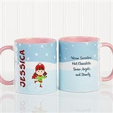 Ice Skating Character Personalized Coffee Mug 11oz.- Pink - 12392-P