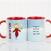 Ice Skating Character Personalized Coffee Mug 11oz.- Red - 12392-R