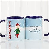Ice Skating Character Personalized Coffee Mug 11oz.- Blue - 12392-BL