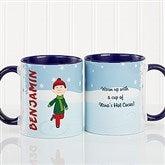 Ice Skating Character Personalized Coffee Mug 11oz.- Blue - 12392-BL