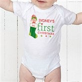 First Christmas Character Personalized Baby Bodysuit - 12395-CBB