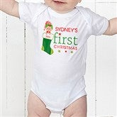 First Christmas Character Personalized Baby Bodysuit - 12395BB