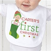 First Christmas Character Personalized Bib - 12395-B