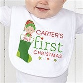 First Christmas Character Personalized Bib - 12395B