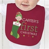 First Christmas Character Personalized Baby Bib - 12395-B