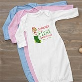 First Christmas Character Personalized Baby Gown - 12395-G