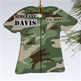1-Sided Army Uniform Personalized Ornament - 12398-1