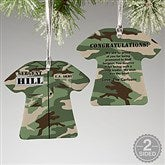 2-Sided Army Uniform Personalized Ornament - 12398-2