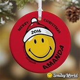 SmileyWorld® Personalized Christmas Ornament - 12404