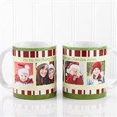 Christmas Photo Message Personalized Coffee Mug 11 oz.- White - 12409-S