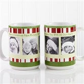 Christmas Photo Message Personalized Coffee Mug 15 oz.- White - 12409-L