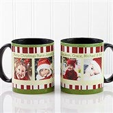 Christmas Photo Message Personalized Coffee Mug 11oz.- Black - 12409-B