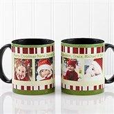Christmas Photo Message Personalized Coffee Mug 11oz.- Black - 12409-B