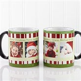 Christmas Photo Message Personalized Black Handle Mug- 11oz. - 12409-B