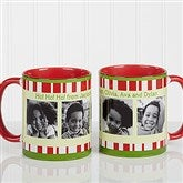 Christmas Photo Message Personalized Coffee Mug 11oz.- Red - 12409-R