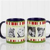 Christmas Photo Message Personalized Coffee Mug 11oz.- Blue - 12409-BL