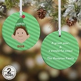 2-Sided Christmas Character Personalized Ornament - 12411-2