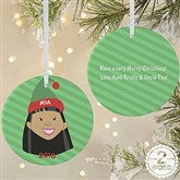 2-Sided Christmas Character Personalized Ornament-Large - 12411-2L