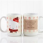 Marshmallow Personalized Mug & Hot Cocoa- 15 oz. - 12412-L