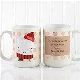 Marshmallow Personalized Mug 15 oz.-  White - 12412-L