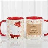 Marshmallow Personalized Mug 11 oz.- Red - 12412-R