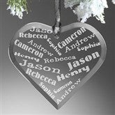 Her Heart Of Love Personalized Heart Ornament - 12413
