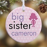1-Sided Big/Baby Brother & Sister Personalized Ornament - 12414-1