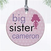 Big/Baby Brother & Sister Personalized Ornament - 12414