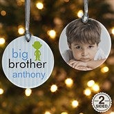 2-Sided Big/Baby Brother & Sister Personalized Photo Ornament - 12414-2
