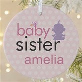 1-Sided Big/Baby Brother & Sister Photo Ornament-Large - 12414-1L
