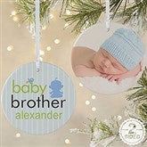 2-Sided Big/Baby Brother & Sister Photo Ornament-Large - 12414-2L