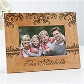 Damask Personalized Family Frame- 4 x 6 - 12415-S