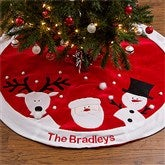 Santa's Helpers Embroidered Tree Skirt - 12434