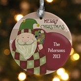 Vintage Santa Personalized Ornament - 12435