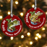 Fisherman's Christmas Personalized Ornament - 12436