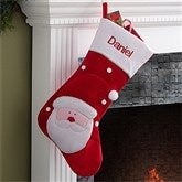 Santa's Helper Embroidered Jumbo Stocking Collection- Santa - 12443-SA